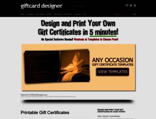 giftcarddesigner.com screenshot