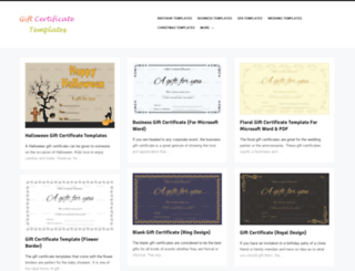 giftcertificatetemplates.net screenshot