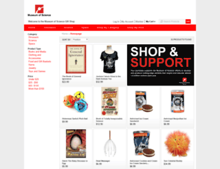 giftshop.mos.org screenshot