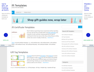 gifttemplates.org screenshot