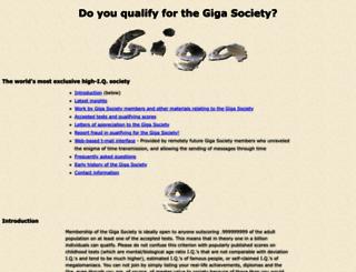 gigasociety.com screenshot