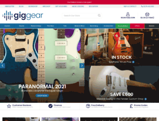 giggear.co.uk screenshot