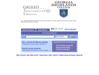 gil.highlands.edu screenshot