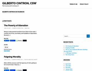 gilbertocintron.com screenshot
