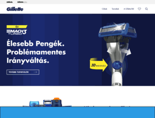 gillette.hu screenshot