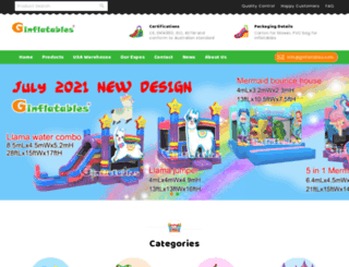 ginflatables.com screenshot