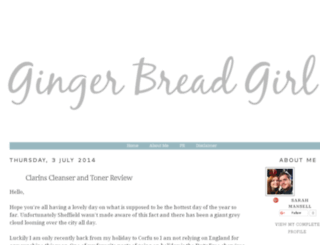 gingerbreadgirlblog.com screenshot