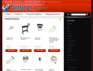 gintingsign.com screenshot