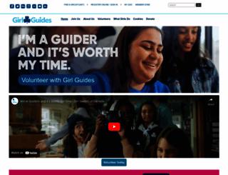 girlguides.ca screenshot