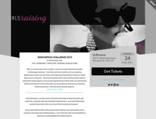 girlsraising4.splashthat.com screenshot