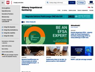 gis.gov.pl screenshot