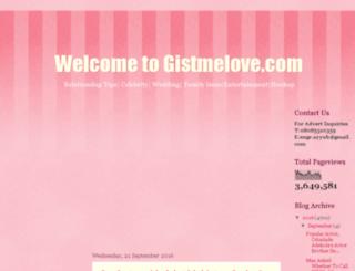 gistmelove.com.ng screenshot