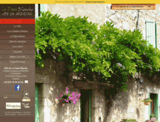 gitedeladameblanche.com screenshot