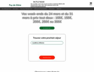 gites-de-france-puydedome.co.uk screenshot