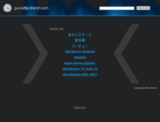 giulietta-trend.com screenshot