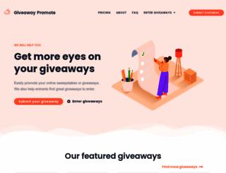 giveawaypromote.com screenshot