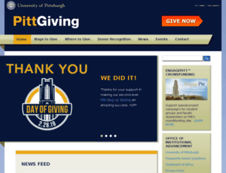 giveto.pitt.edu screenshot