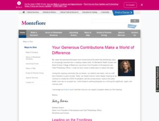 givetomontefiore.org screenshot