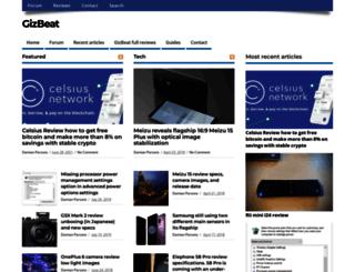 gizbeat.com screenshot