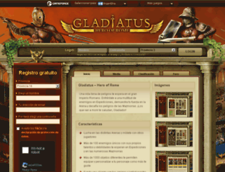 gladiatus.com.ve screenshot