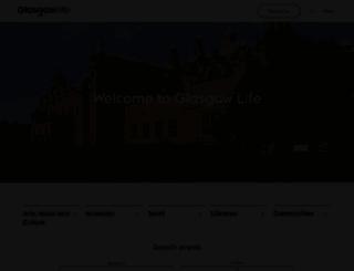 glasgowlife.org.uk screenshot