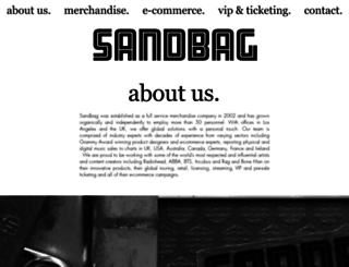 glastonbury.sandbaghq.com screenshot