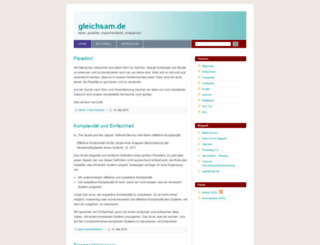 gleichsam.de screenshot