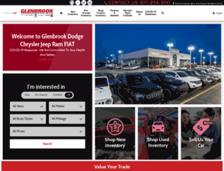 glenbrookdodgechryslerjeep.com screenshot