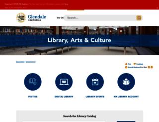 glendalepubliclibrary.org screenshot