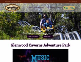 glenwoodcaverns.com screenshot