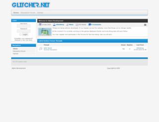 glitcher.net screenshot