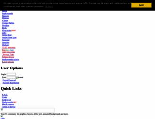 glitter-graphics.org screenshot