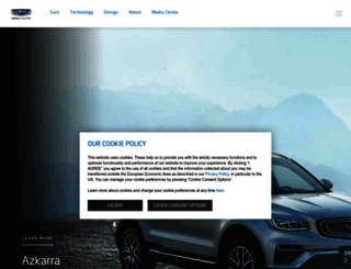 global.geely.com screenshot