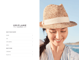 global.oriflame.com screenshot