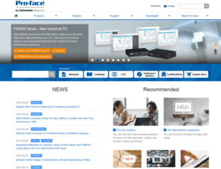 global.pro-face.com screenshot