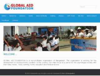globalaidbd.org screenshot