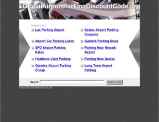 globalairportparkingdiscountcode.org screenshot