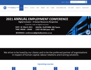globalbusiness.co.za screenshot
