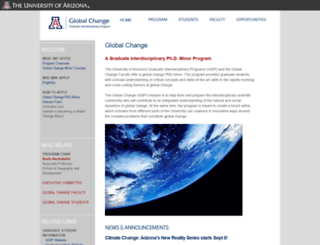 globalchange.arizona.edu screenshot