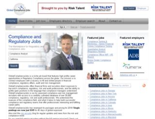 globalcompliancejobs.com screenshot