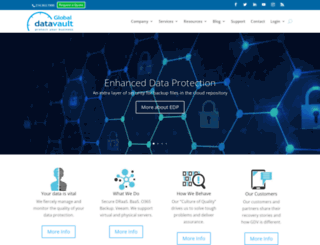 globaldatavault.com screenshot