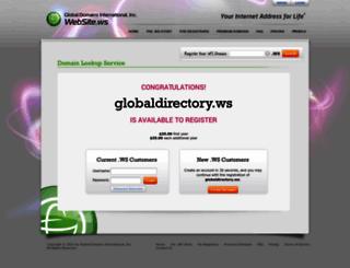 globaldirectory.ws screenshot