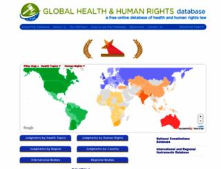 globalhealthrights.org screenshot