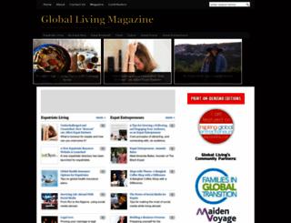 globallivingmagazine.com screenshot