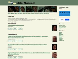 globalmissiology.org screenshot