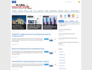 globalregulatoryscience.com screenshot