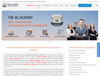 globaltrainingbangalore.com screenshot