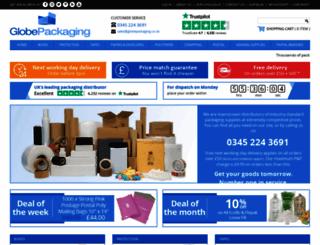 globepackaging.co.uk screenshot