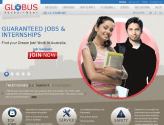globusrecruitment.com.au screenshot