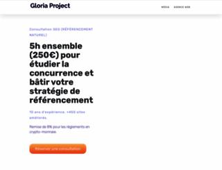 gloria-project.eu screenshot